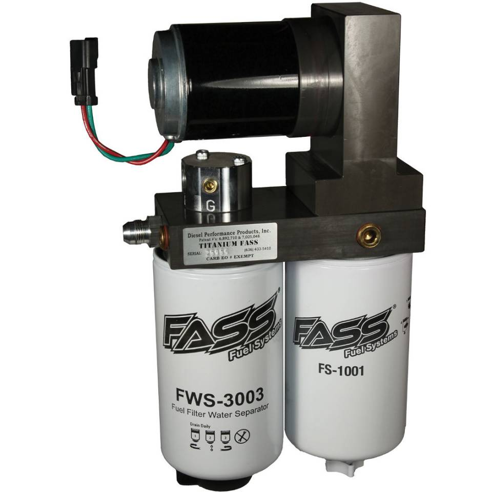 Fass 2011 2016 Gm Duramax 260 Gph Flow Rate Titanium Series Lift Pump 2001 Fuel Filter Housing