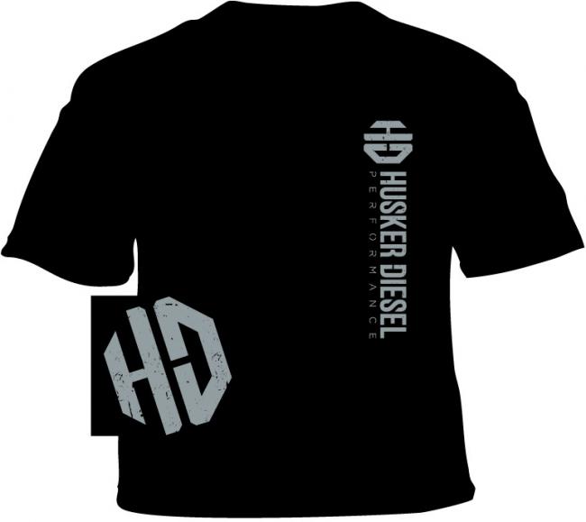 Husker Diesel  - Husker Diesel Adult Black HD T-Shirt