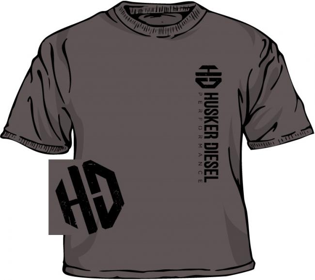 Husker Diesel  - Husker Diesel Adult Charcoal HD T-Shirt