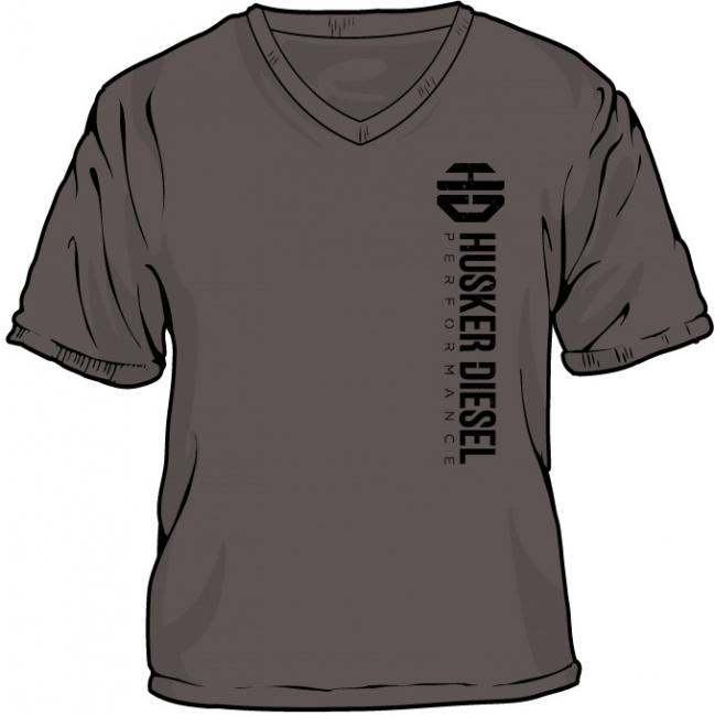 Husker Diesel  - Husker Diesel Womens Charcoal HD T-Shirt