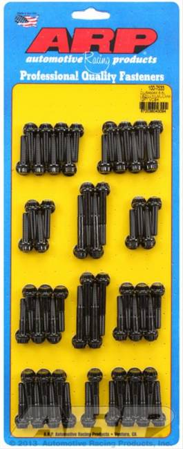 ARP Fasteners - Duramax 6.6L LBZ/LLY/LML/LMM 12pt valve cover bolt kit (BLACK)