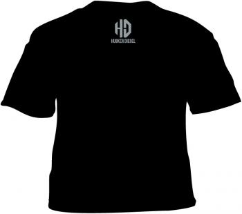 Husker Diesel  - Husker Diesel Adult Black HD T-Shirt - Image 2