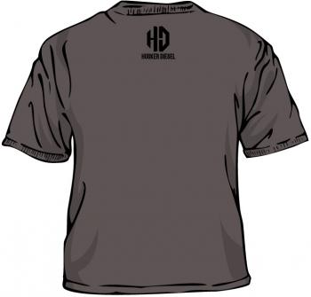 Husker Diesel  - Husker Diesel Womens Charcoal HD T-Shirt - Image 2