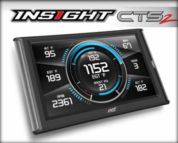 13-17 Cummins 6.7L Common Rail - 13-17 Cummins Gauges/Monitors - EDGE PRODUCTS INC. - EDGE 84130 INSIGHT CTS2 | UNIVERSAL