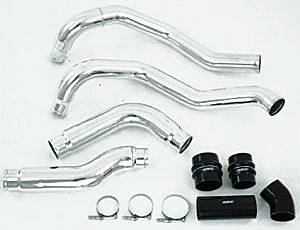 "Shop All Dodge Cummins Products - Dodge Cummins Engine Parts - MBRP INC. - 3.5"" Intercooler Pipe - Drivers Side, polished aluminum"