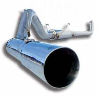 "06-07 LBZ Duramax - Exhaust - MBRP INC. - EC/CC 4"" Down Pipe Back, Single Side, Off-Road T409"