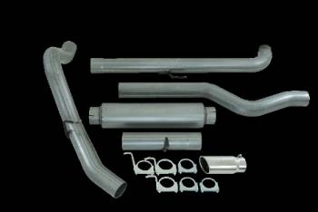 "01-04 LB7 Duramax - LB7 Duramax Exhaust - MBRP INC. - EC/CC 4"" Down Pipe Back, Single Side, Off-Road AL"