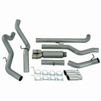 "06-07 LBZ Duramax - Exhaust - MBRP INC. - EC/CC 4"" Down Pipe Back, Cool Duals?, Off-Road AL"