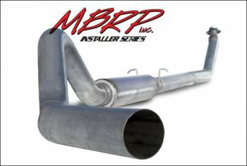 "94-98 Cummins P-Pump 12 Valve - 94-98 Cummins Exhaust - MBRP INC. - 4"" Turbo Back, Single Side (94-97 Hanger HG6100 req.), AL"