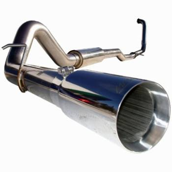 "03-07 Powerstroke 6.0L - 03-07 Powerstroke Exhaust - MBRP INC. - 4"" Turbo Back, Single Side (Stock Cat) Exit, T304"