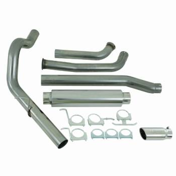 "03-07 Powerstroke 6.0L - 03-07 Powerstroke Exhaust - MBRP INC. - 4"" Turbo Back, Single Side (Stock Cat) Exit, T409"