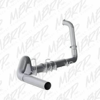 03-07 Powerstroke 6.0L - 03-07 Powerstroke Exhaust - MBRP INC. - EC/CC 5in Turbo Back Single Side -- no muffler