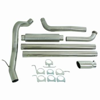 "Shop All Ford Powerstroke Products - Ford Powerstroke Exhaust - MBRP INC. - 4"" Cab & Chassis, Turbo Back, Single Side Exit, Off Road, T409"