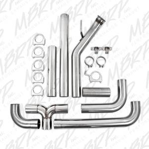 "04.5-07 Cummins 5.9L Common Rail - 04.5-07 Cummins Exhaust - MBRP INC. - 4"" Turbo Back, Dual SMOKERS?, 409"