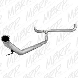 "04.5-07 Cummins 5.9L Common Rail - 04.5-07 Cummins Exhaust - MBRP INC. - 4"" Turbo Back, Dual Smokers, AL"