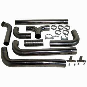 "Shop All Ford Powerstroke Products - Ford Powerstroke Exhaust - MBRP INC. - 4"" Turbo Back Dual SmokersT409"