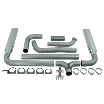 "03-07 Powerstroke 6.0L - 03-07 Powerstroke Exhaust - MBRP INC. - 4"" Turbo Back, Smokers (incl. B1610 stacks), AL"