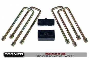 06-07 LBZ Duramax - LBZ Duramax Suspension & Lift Kits - Cognito - 1IN BLOCK & U BOLT KIT-2500HD