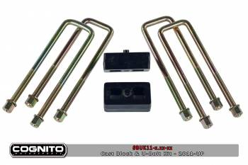 11-16 LML Duramax - Suspension & Lift Kits - Cognito - 4IN STRAIGHT STEEL BLOCKS WITH 16IN U-BOLTS-2011-UP  2500HD